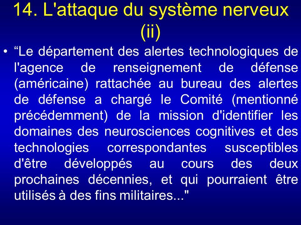 14. L attaque du système nerveux (ii)