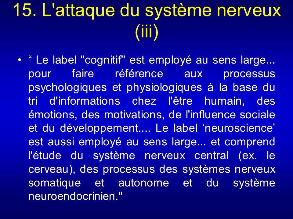 15. L attaque du système nerveux (iii)