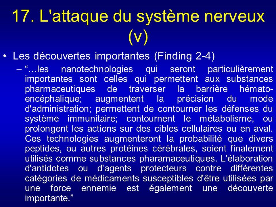 17. L attaque du système nerveux (v)