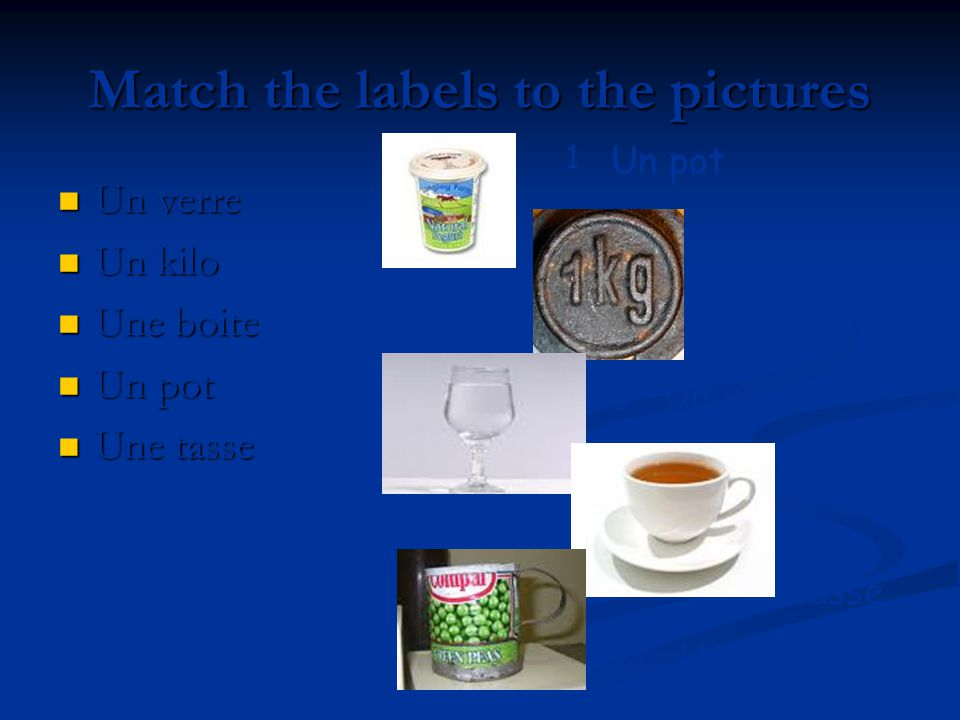 Match the labels to the pictures
