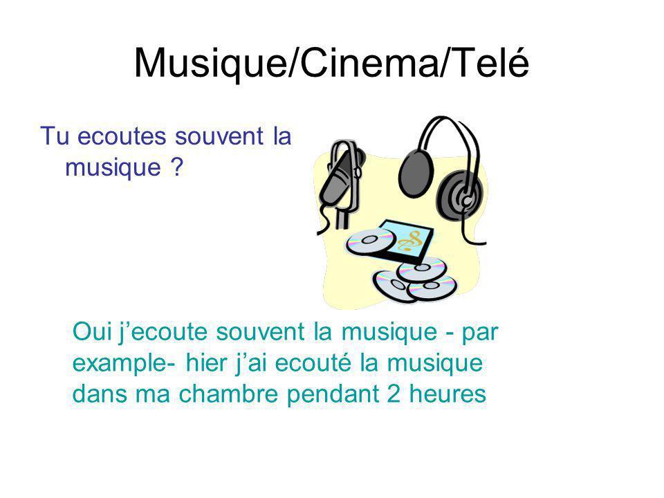 Musique/Cinema/Telé Tu ecoutes souvent la musique
