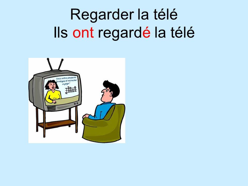 Regarder la télé Ils ont regardé la télé