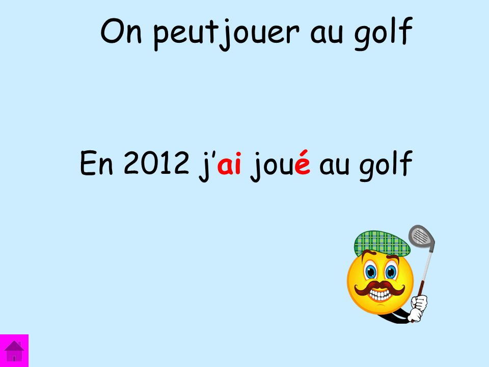 On peutjouer au golf En 2012 j'ai joué au golf