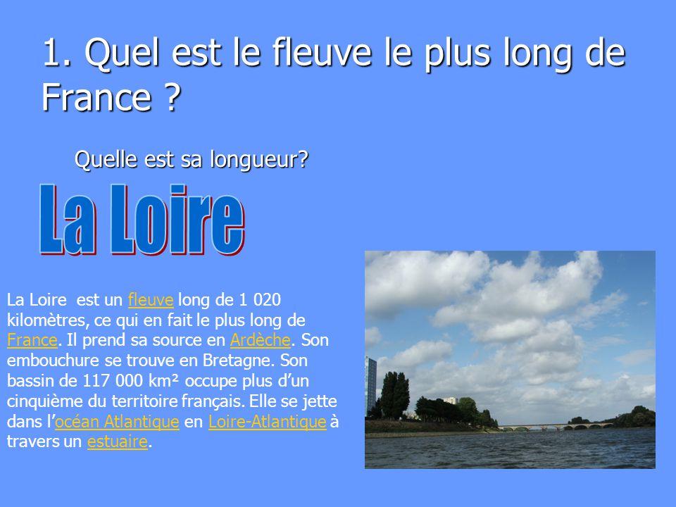 1. Quel est le fleuve le plus long de France