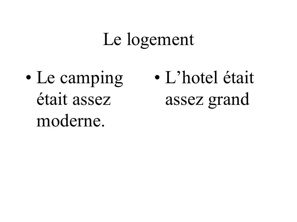 Le logement Le camping était assez moderne. L'hotel était assez grand
