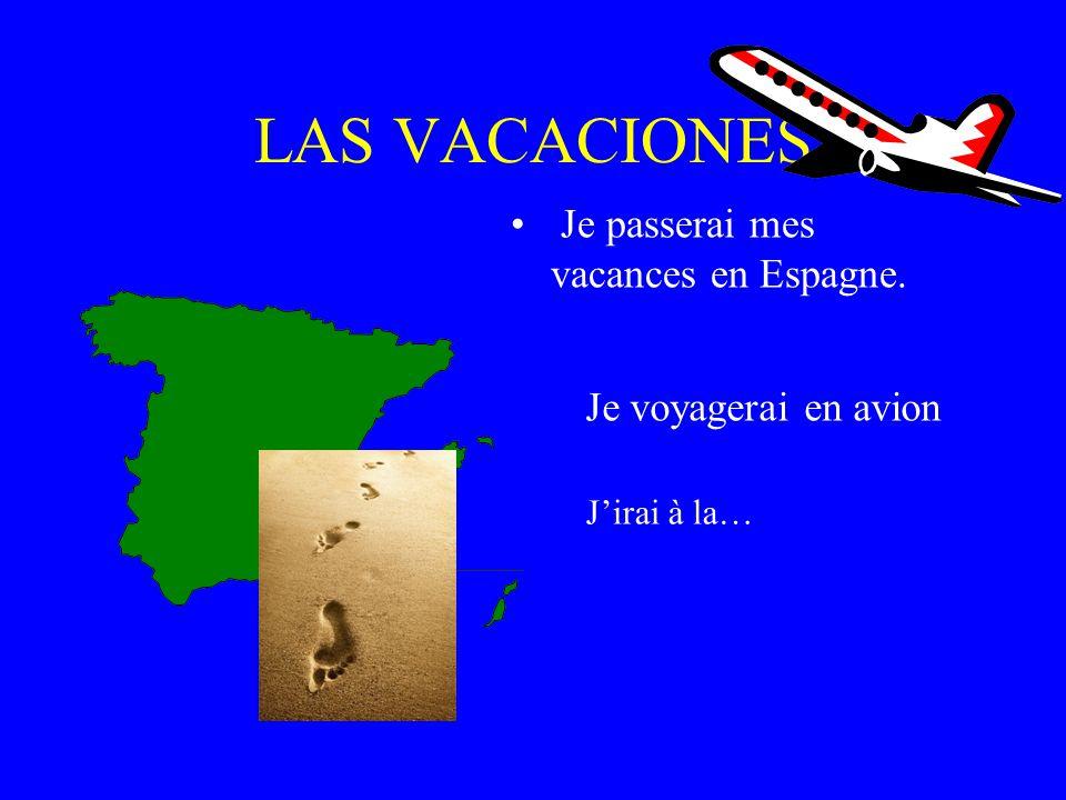 LAS VACACIONES Je passerai mes vacances en Espagne.