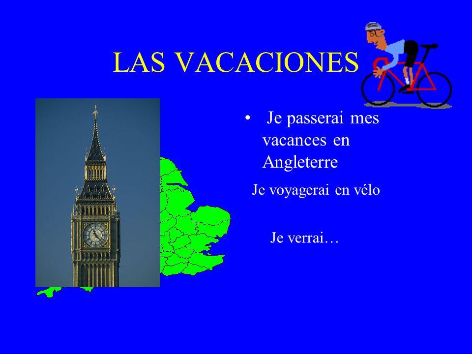 LAS VACACIONES Je passerai mes vacances en Angleterre
