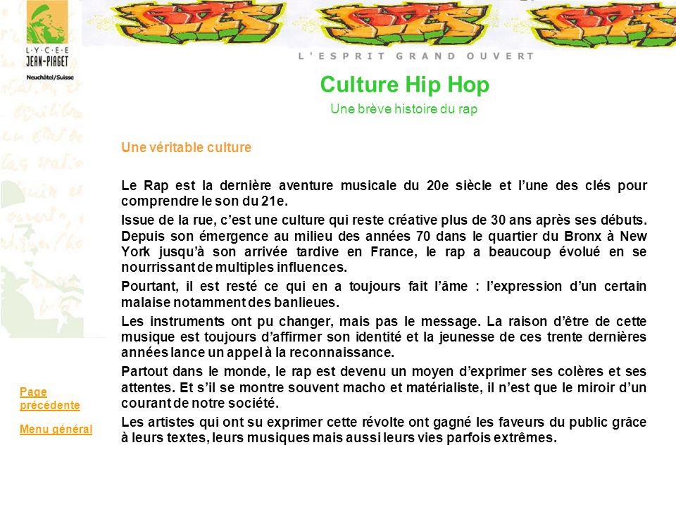 Culture Hip Hop Une brève histoire du rap