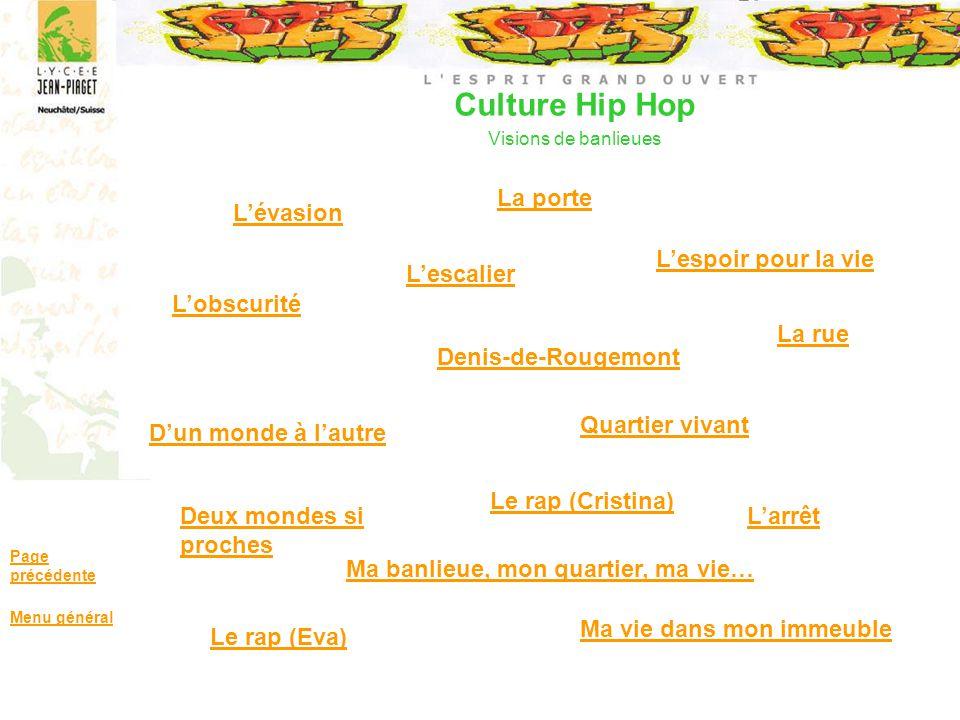 Culture Hip Hop Visions de banlieues