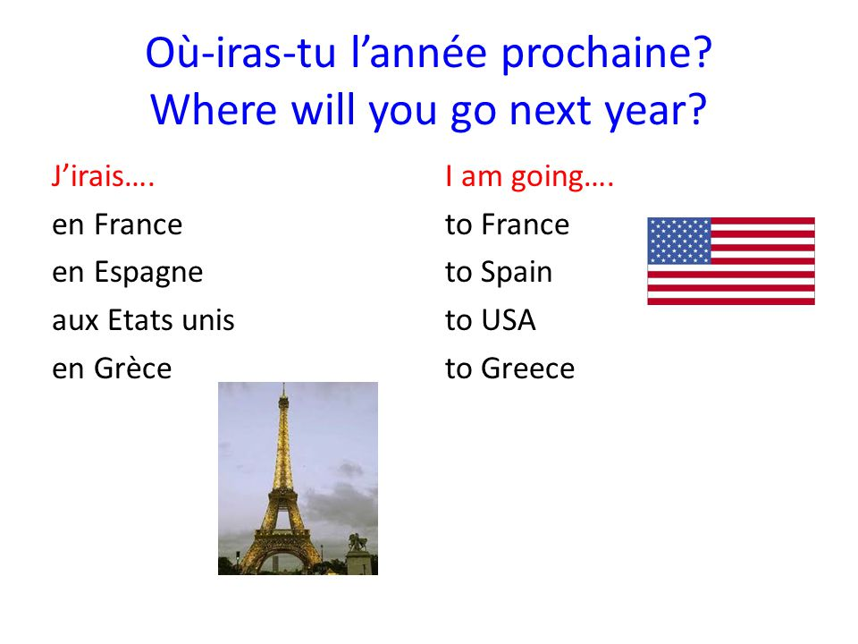Où-iras-tu l'année prochaine Where will you go next year