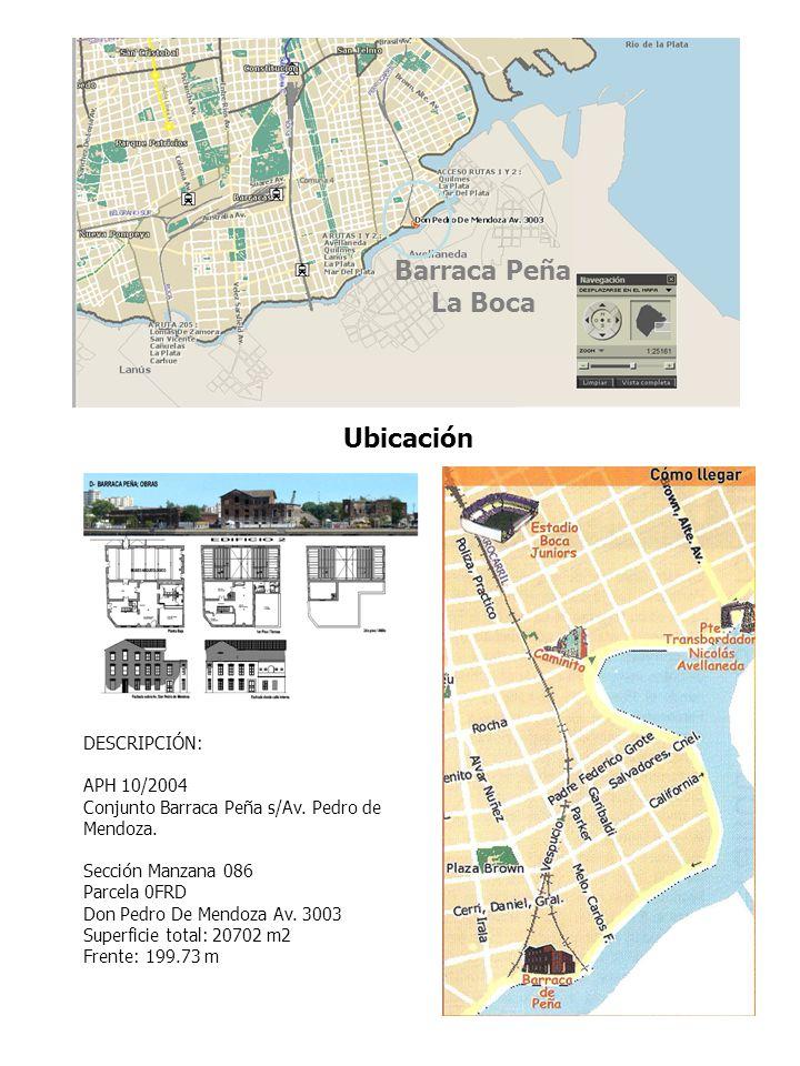 Barraca Peña La Boca Ubicación DESCRIPCIÓN: APH 10/2004