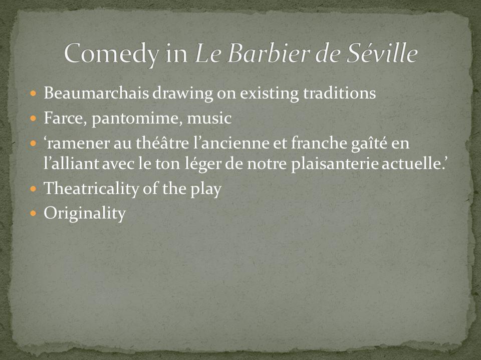 Comedy in Le Barbier de Séville
