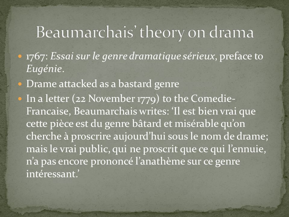 Beaumarchais' theory on drama