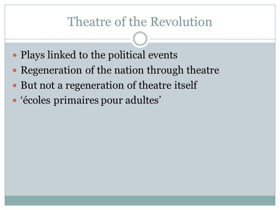 Theatre of the Revolution