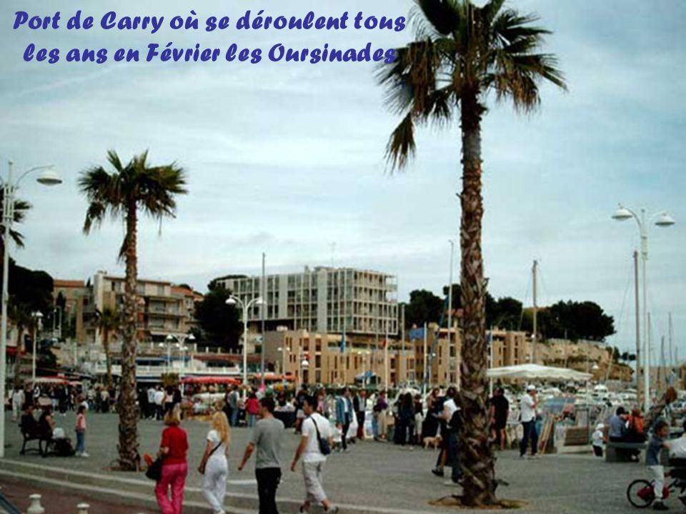 Port de Carry où se déroulent tous les ans en Février les Oursinades