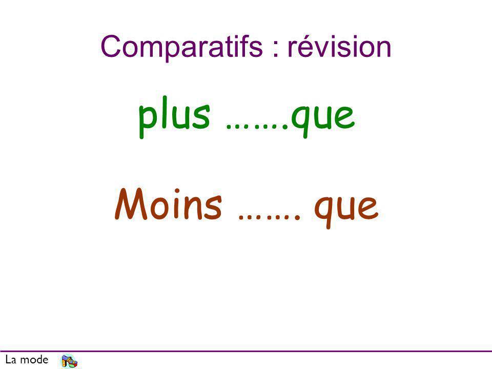 Comparatifs : révision
