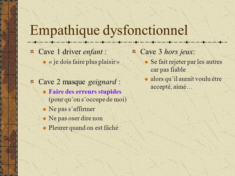Empathique dysfonctionnel