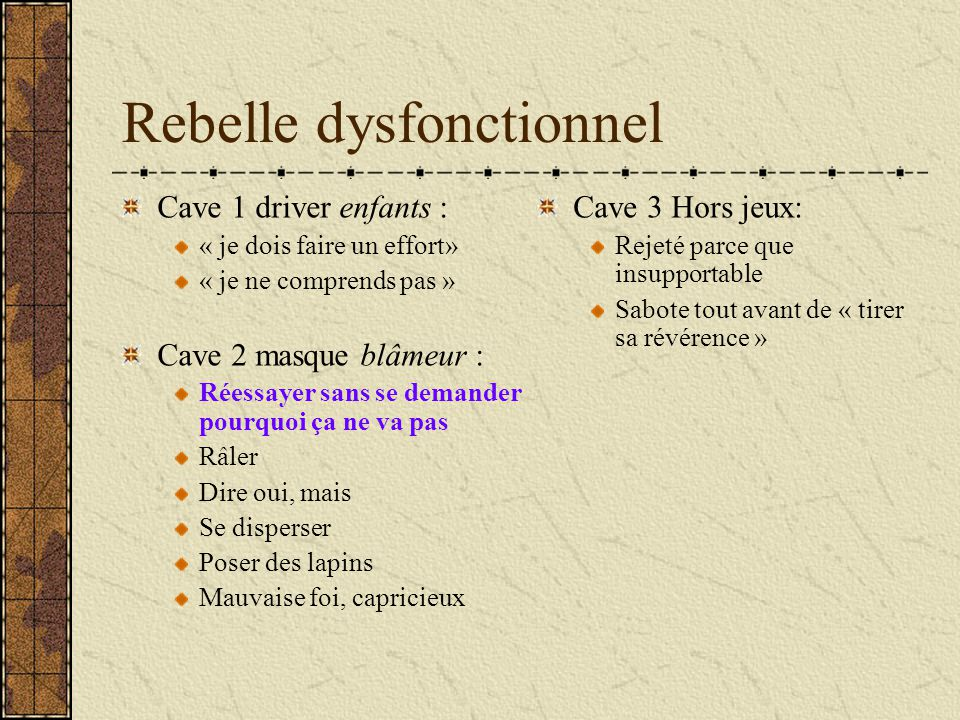 Rebelle dysfonctionnel