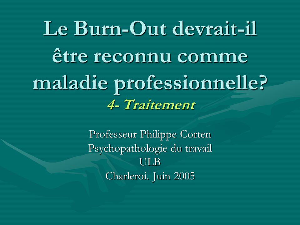 Le Burn-Out devrait-il être reconnu comme maladie professionnelle
