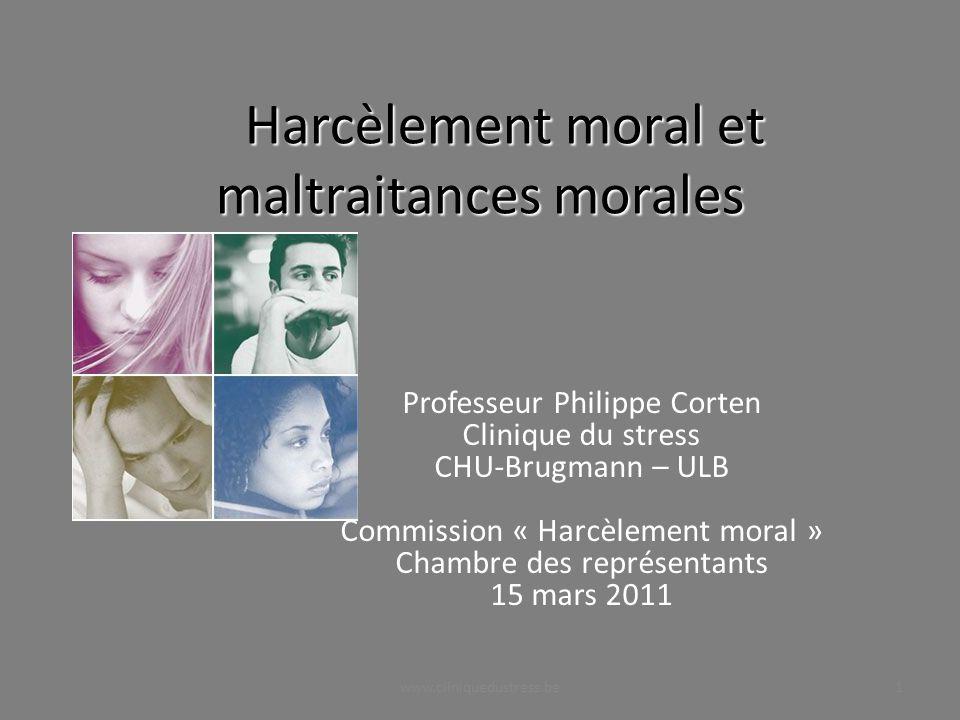 Harcèlement moral et maltraitances morales
