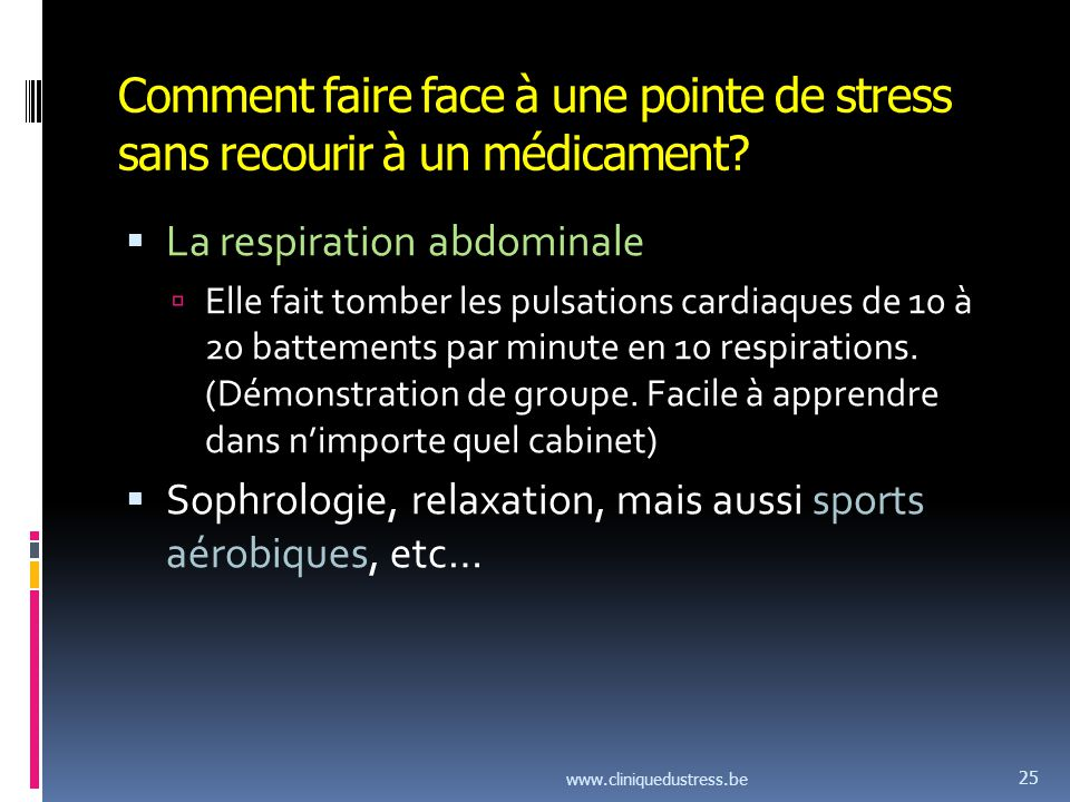 Comment faire face à une pointe de stress sans recourir à un médicament