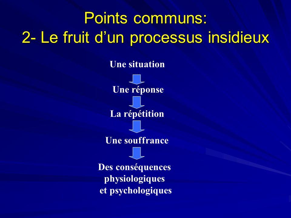 Points communs: 2- Le fruit d'un processus insidieux