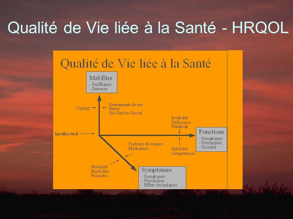 Qualité de Vie liée à la Santé - HRQOL