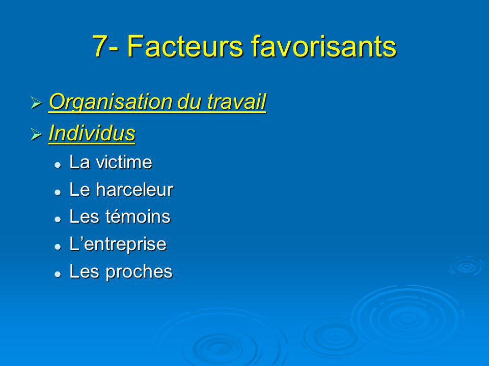 7- Facteurs favorisants