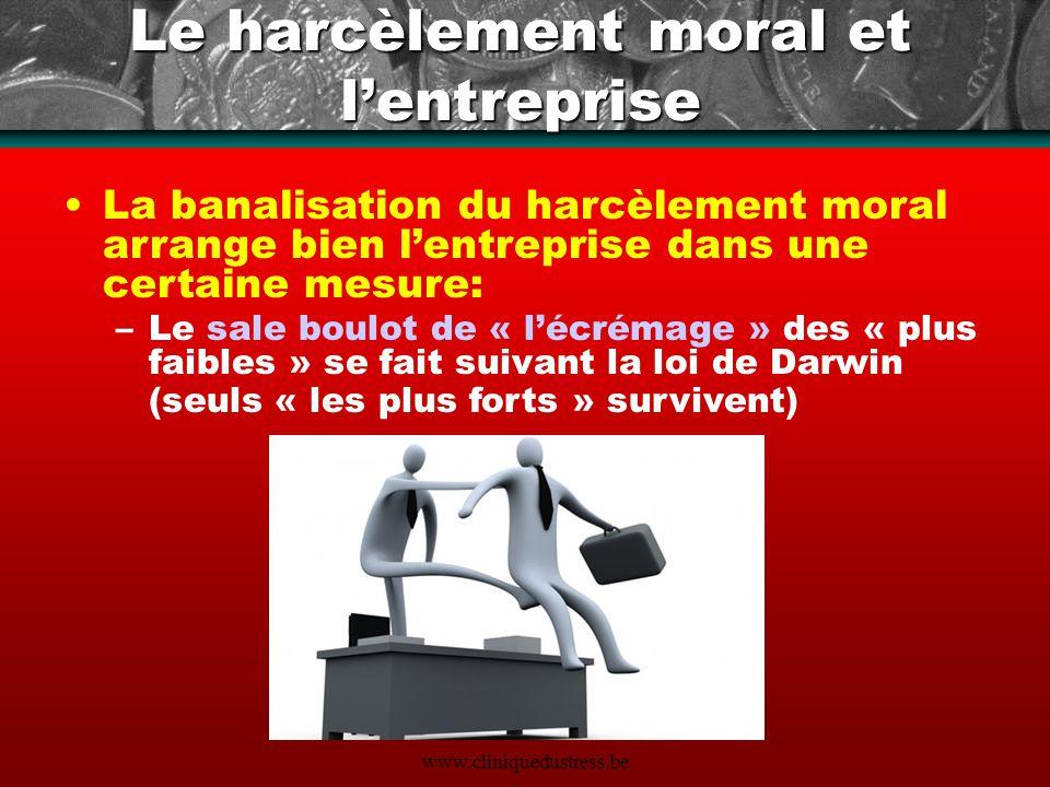 Le harcèlement moral et l'entreprise