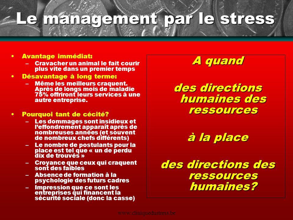 Le management par le stress