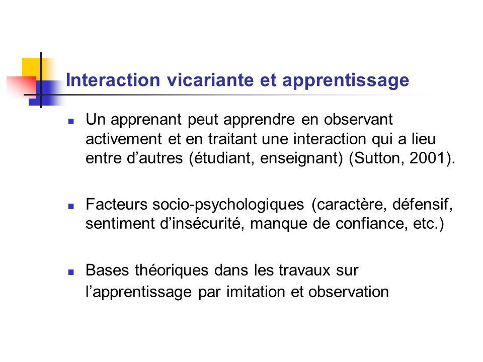 Interaction vicariante et apprentissage