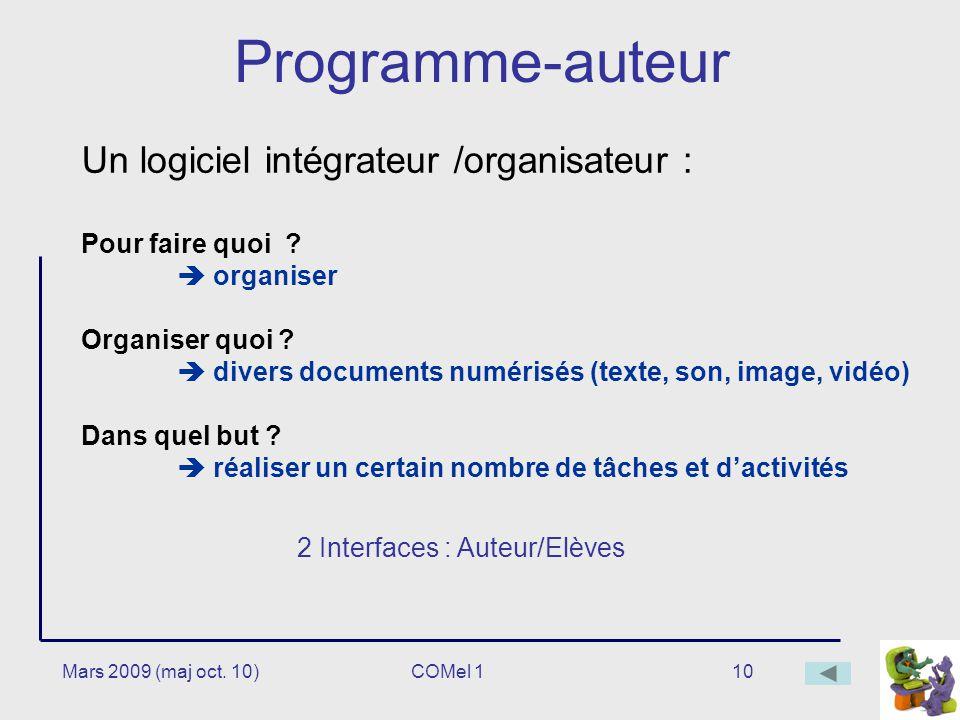2 Interfaces : Auteur/Elèves