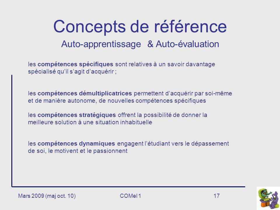 Concepts de référence Auto-apprentissage & Auto-évaluation