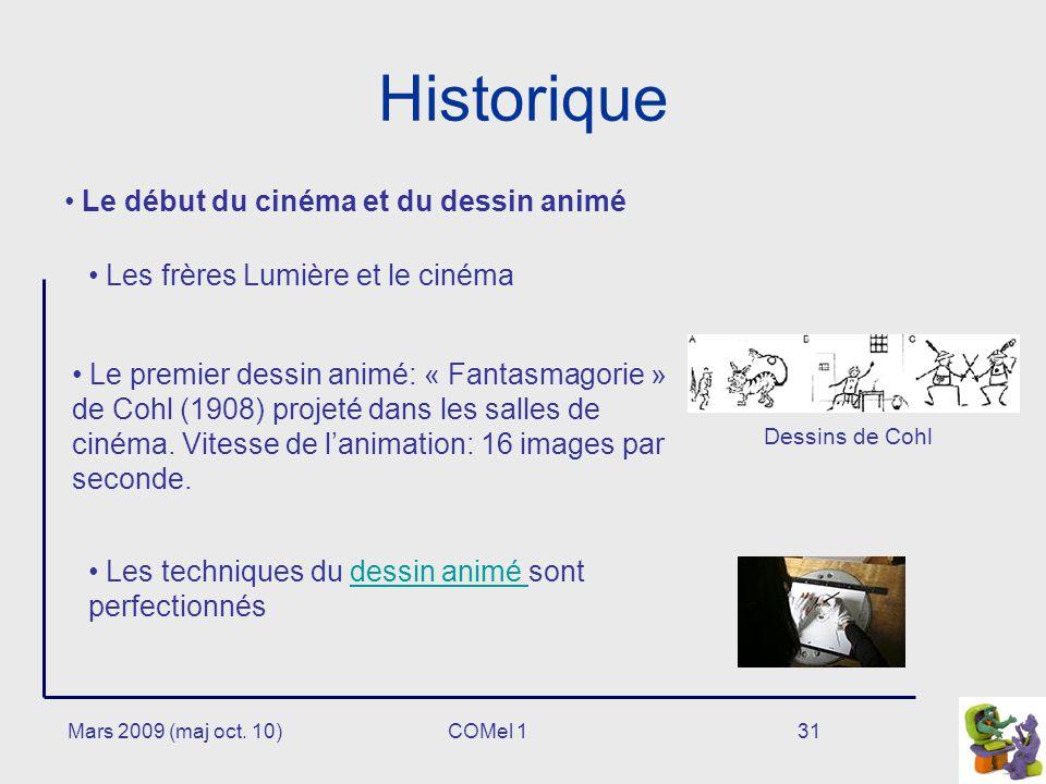 Historique Le début du cinéma et du dessin animé