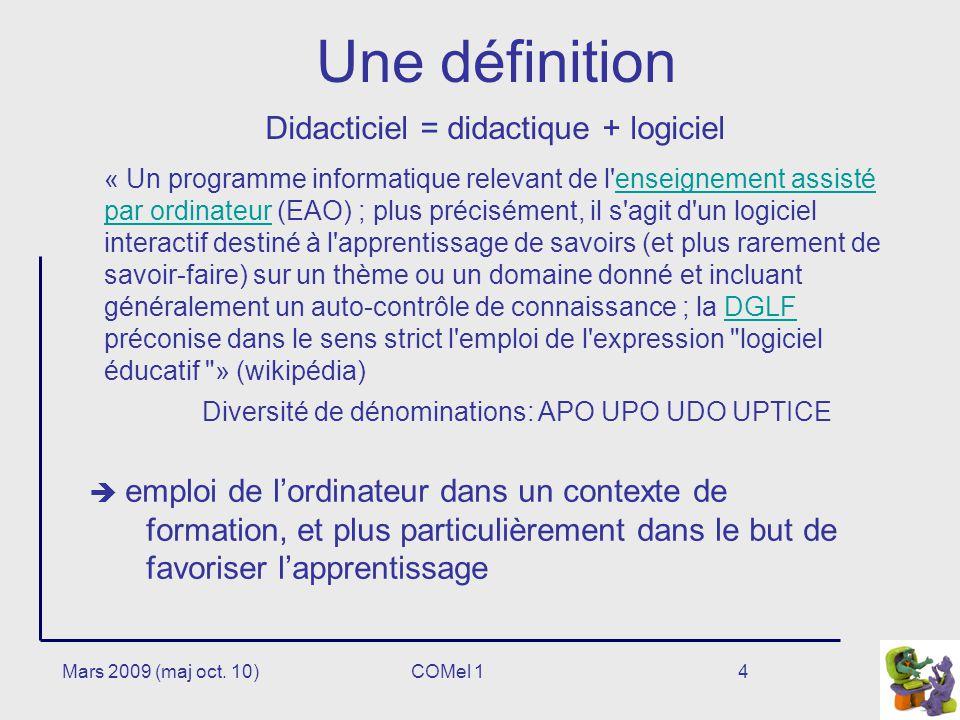 Didacticiel = didactique + logiciel