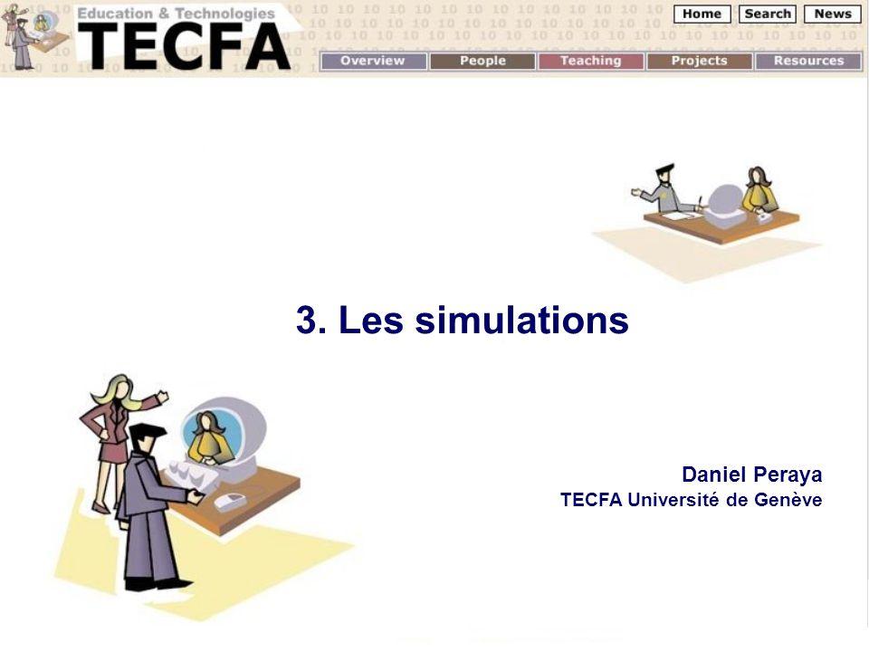 3. Les simulations Daniel Peraya TECFA Université de Genève