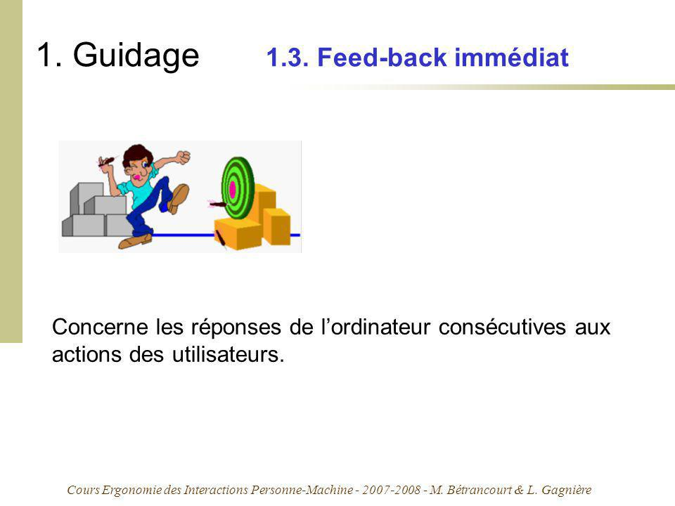 1. Guidage 1.3. Feed-back immédiat