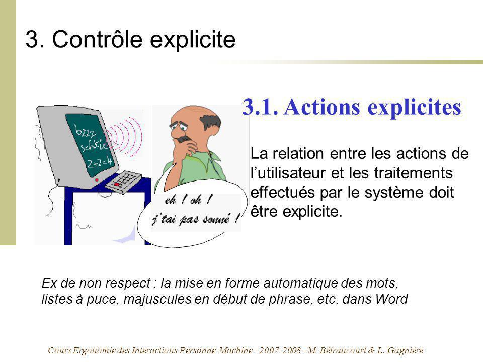 3. Contrôle explicite 3.1. Actions explicites
