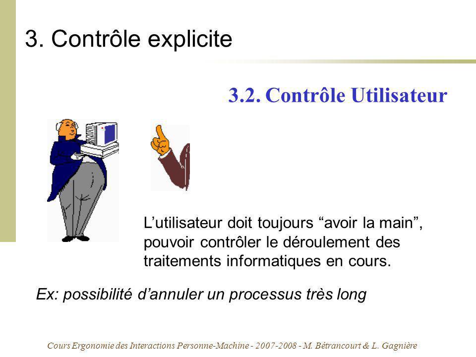3. Contrôle explicite 3.2. Contrôle Utilisateur