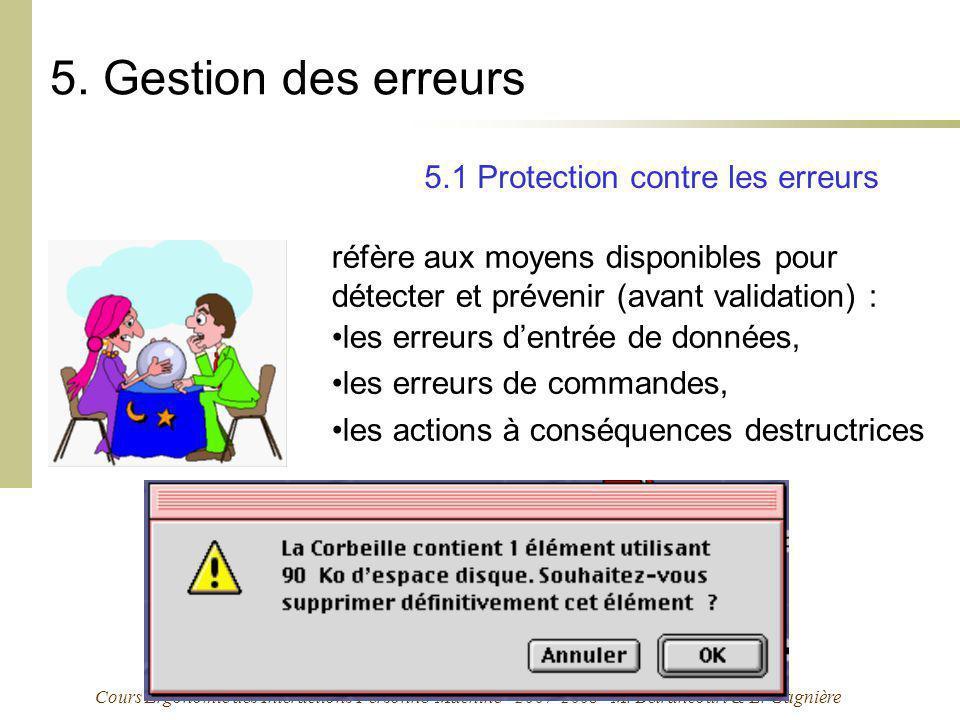 5. Gestion des erreurs 5.1 Protection contre les erreurs