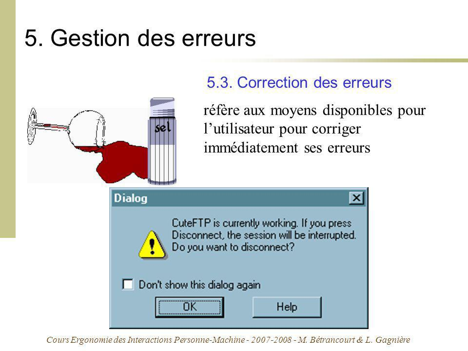 5. Gestion des erreurs 5.3. Correction des erreurs