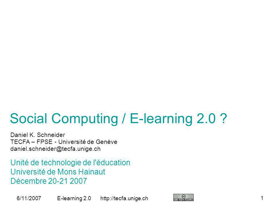 Social Computing / E-learning 2.0