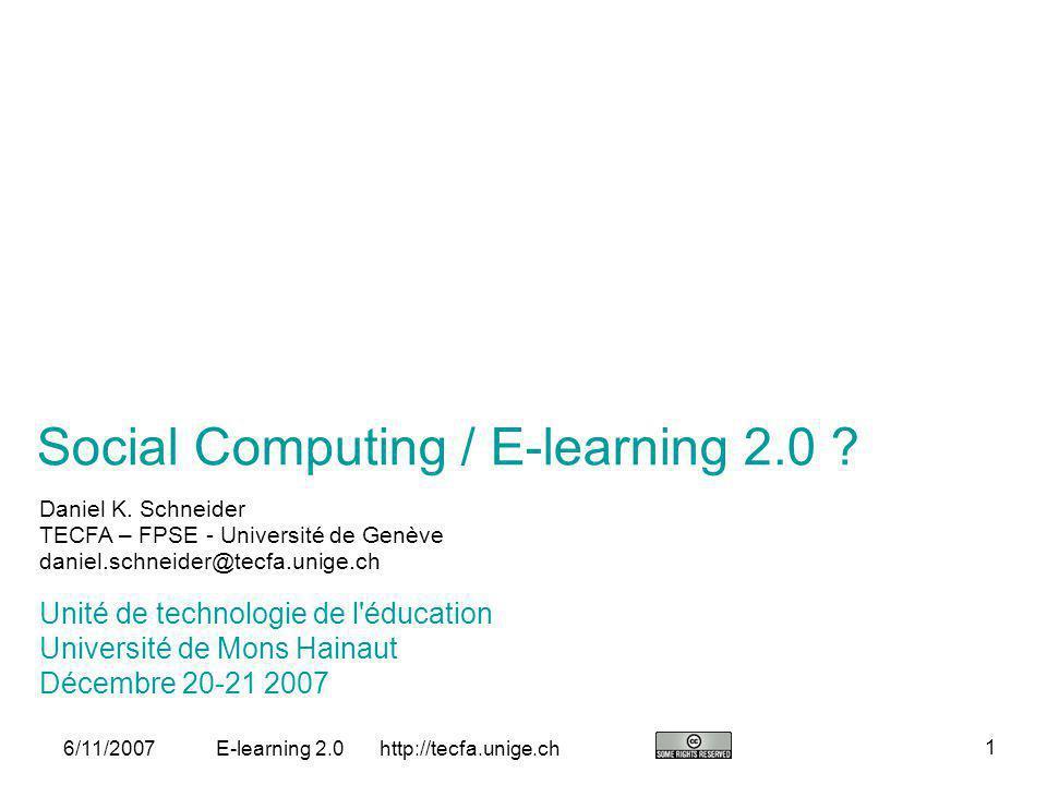 Social Computing / E-learning 2.0