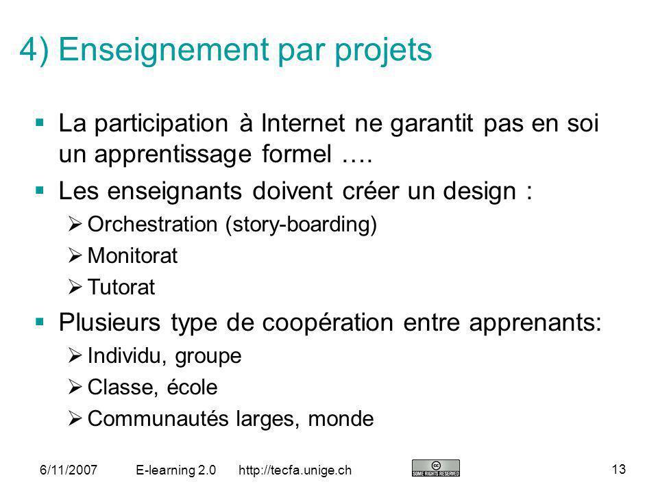 4) Enseignement par projets