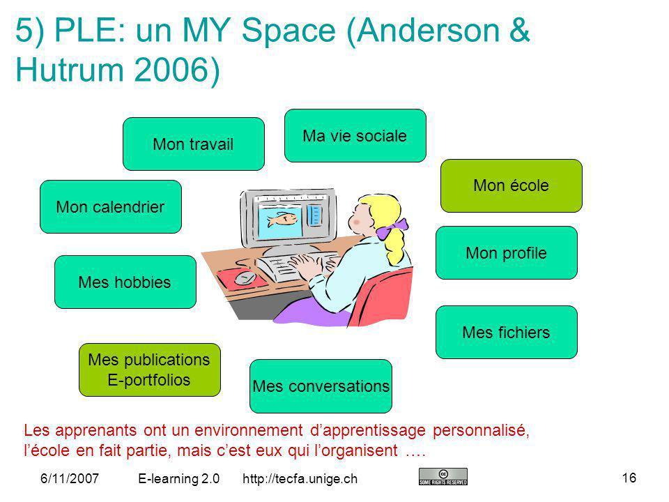 5) PLE: un MY Space (Anderson & Hutrum 2006)
