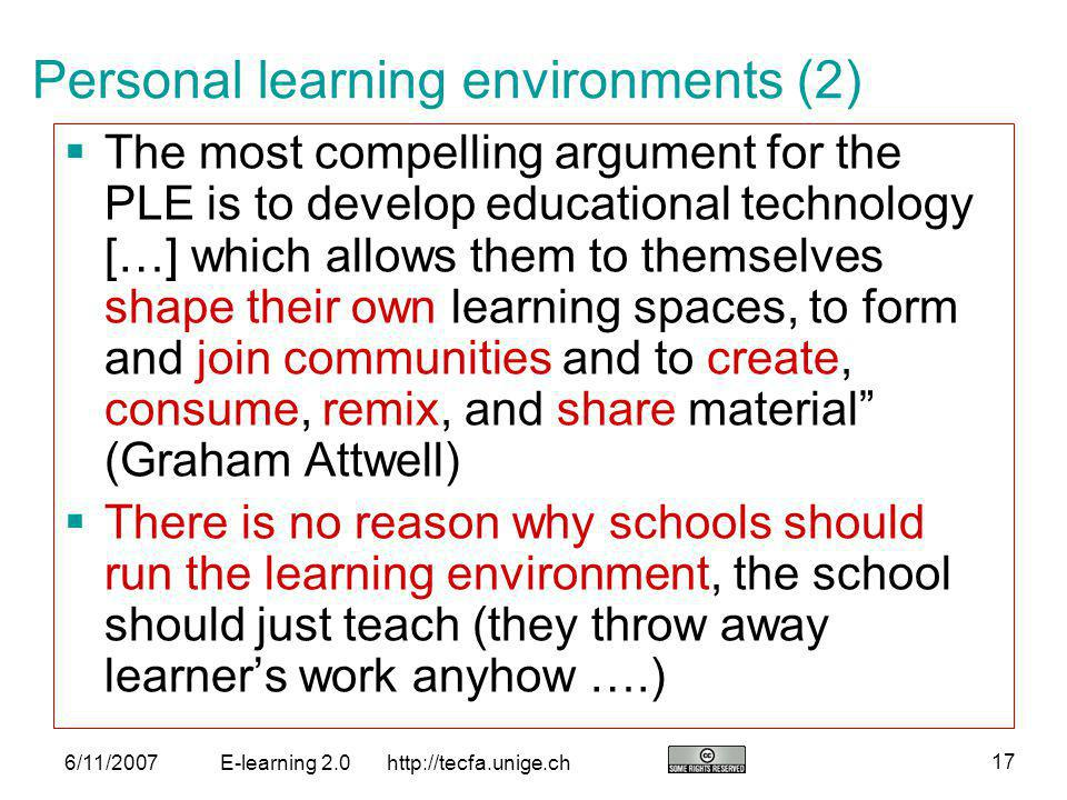 Personal learning environments (2)