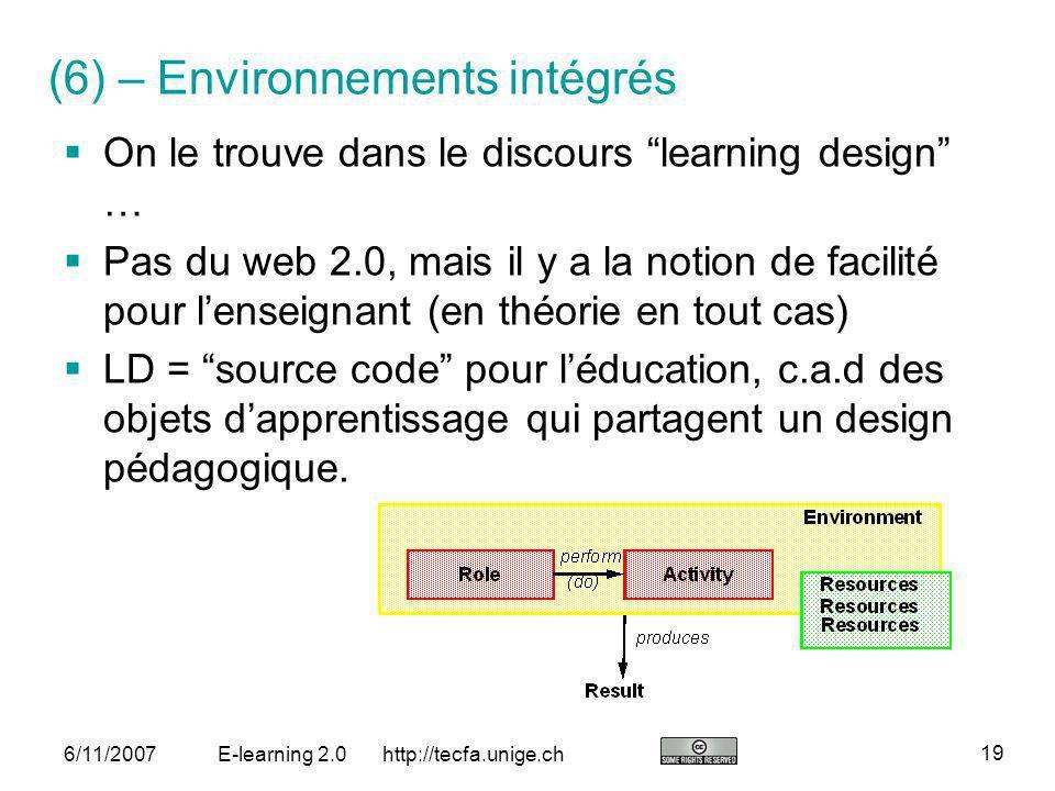 (6) – Environnements intégrés