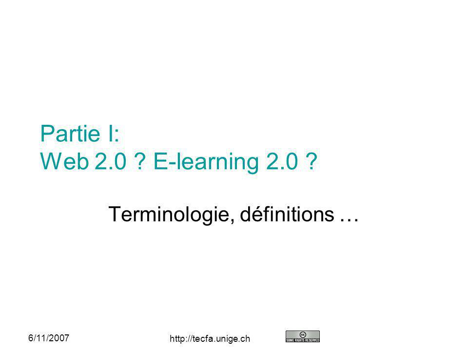Partie I: Web 2.0 E-learning 2.0