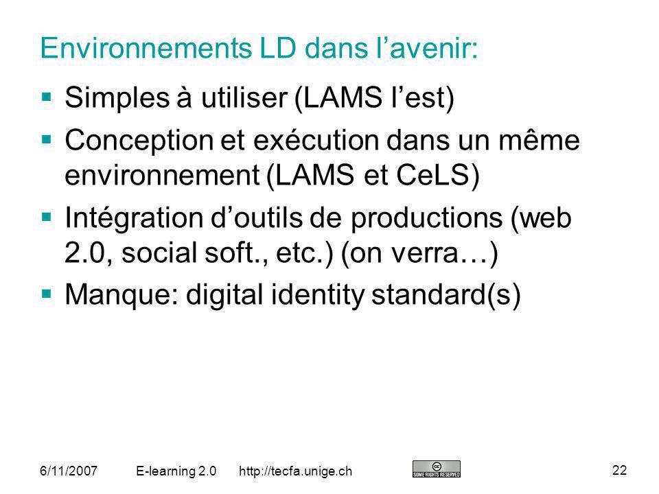 Environnements LD dans l'avenir: