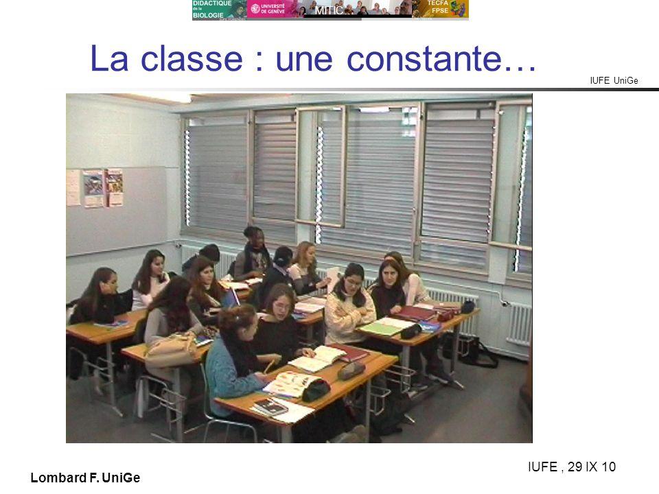 La classe : une constante…